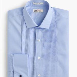 J.Crew Thomas Mason powder blue tux shirt